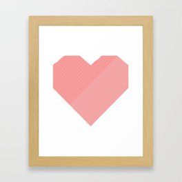 hart /red/ Framed Art Print