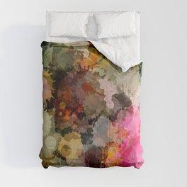Paint Splatter Bouqet  Comforters