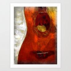 my spanish guitar  Art Print