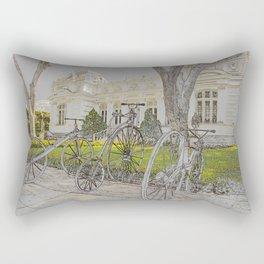 Old time bikes Rectangular Pillow