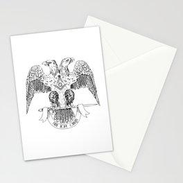 Two-headed eagle as Masonic symbol Stationery Cards