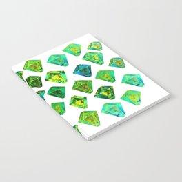 Green gemstone pattern. Notebook
