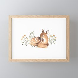 Meadow and Fawn Framed Mini Art Print