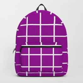 GRID DESIGN (WHITE-PURPLE) Backpack