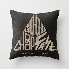 The Iron Triangle Throw Pillow