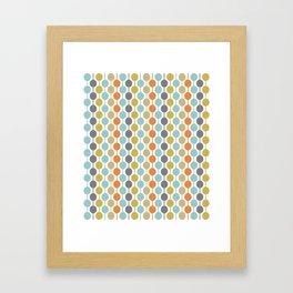 Retro Circles Mid Century Modern Background Framed Art Print
