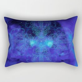 Tibet. Blue Meditation Rectangular Pillow