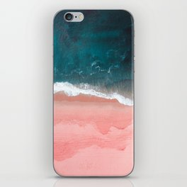 Turquoise Sea Pastel Beach III iPhone Skin