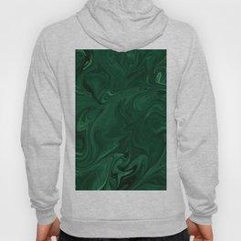 Modern Cotemporary Emerald Green Abstract Hoody