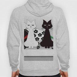 Black and White Cats on Sofa Christmas Hoody