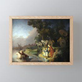 Rembrandt Abduction of Europa Framed Mini Art Print