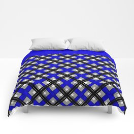 Combo black blue plaid Comforters