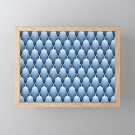 Blue Sky Scallops Framed Mini Art Print