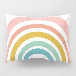 Simple Happy Rainbow Art Pillow Sham