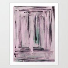 Rose et Vert Art Print
