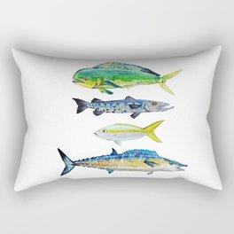 Caribbean Fish Rectangular Pillow