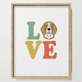 Love Beagle Dog Lover Dog Owner Gift Serving Tray