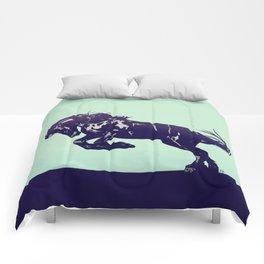 Dark Blue Stallion Comforters