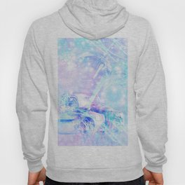 Old car in pink and blue space Hoody