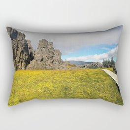 Þingvellir/Thingvellir National Park, Iceland (1) Rectangular Pillow