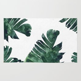 Banana Leaf Watercolor #society6 #buy #decor Rug