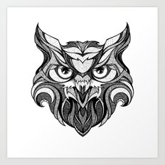 Owl - Drawing Art Print