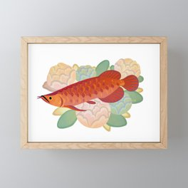 Arowana and peony 3 Framed Mini Art Print