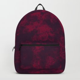 Burgundy Marble Flames, Abstract Art in Dark Purple and Bright Red Colors  Backpack