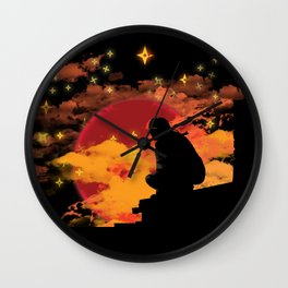 NINJA NIGHT SHOWDOWN Wall Clock
