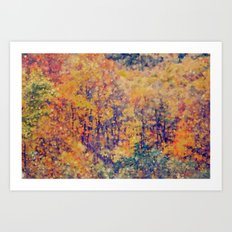 Autumn Woods Abstract -- Colorful Foliage Art Print