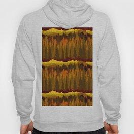 PNW Mountain Landscape in Autumn Sunset Orange Hoody