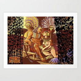 Dreaming with the pharaoh Art Print