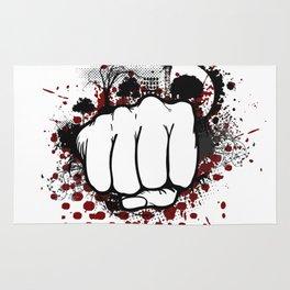 Grunge Fist Punch Rug