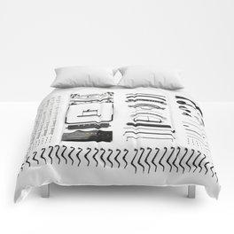 Typewriter 5 Comforters