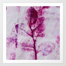 Pretty Plum Leaves  Art Print