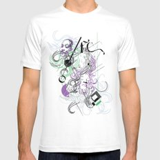 faces White MEDIUM Mens Fitted Tee