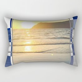 Port Erin - check graphic Rectangular Pillow