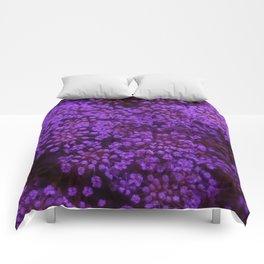 Purple Queen Anne's Lace Landscape Comforters