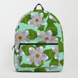 Cherry flowers with green leaves  Backpack