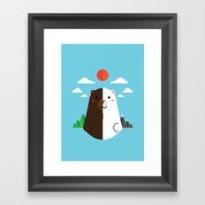 Grizzly & Polar Framed Art Print