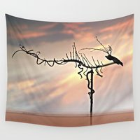 dragon Wall Tapestries featuring Dragon by Menchulica