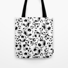 3D look soccer balls pattern Tote Bag