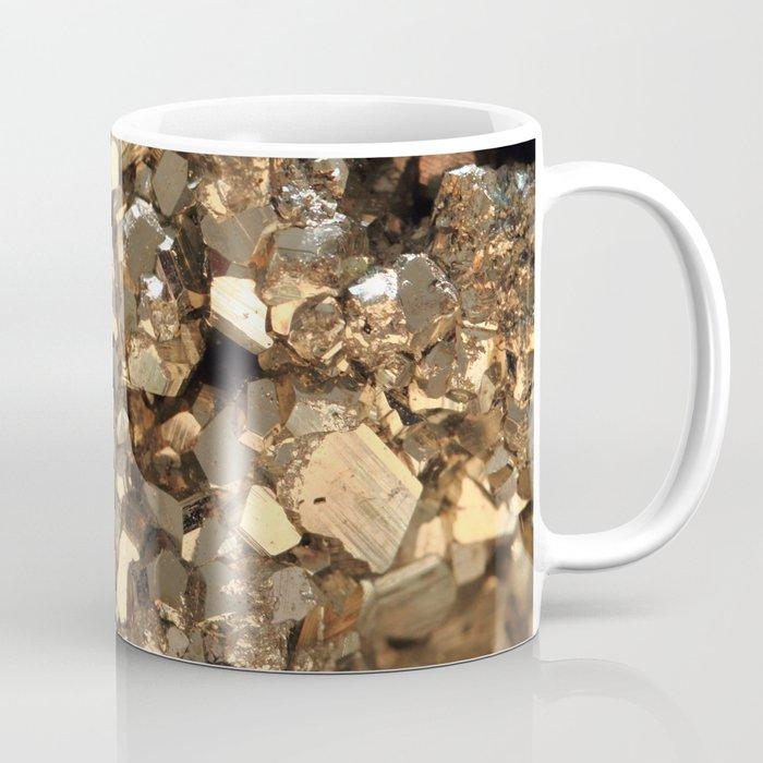 Golden Pyrite Mineral Coffee Mug