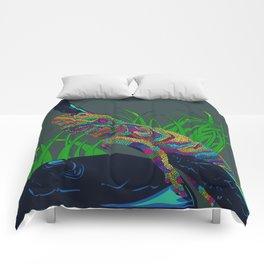 Colorful Lizard Comforters