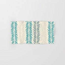 Herringbone bamboo leaves Hand & Bath Towel