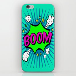 Boom Blue Boom iPhone Skin