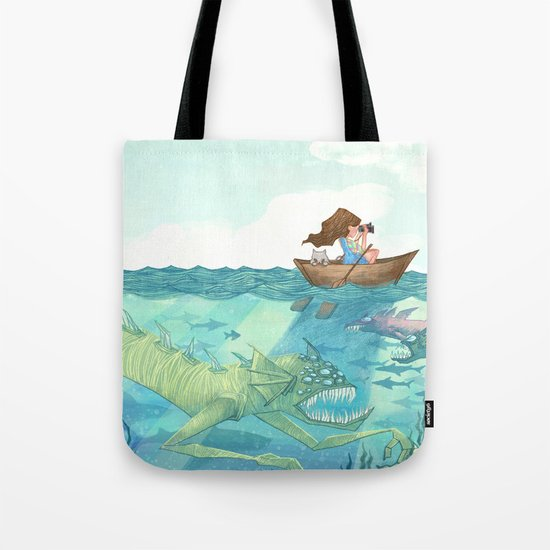 The Lake of Lurking Monsters Tote Bag