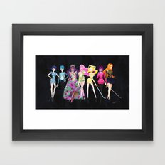 Utena Crew in Couture Framed Art Print