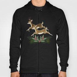 winter deer // repeat pattern Hoody