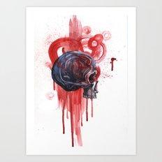 Bloody Skull Art Print